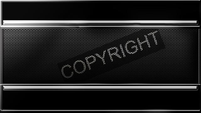 nápis copyright