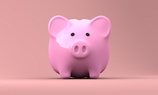 Ružové prasiatko – pokladnička